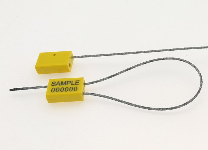 Adjustable cable security trailer seal for post office C-158